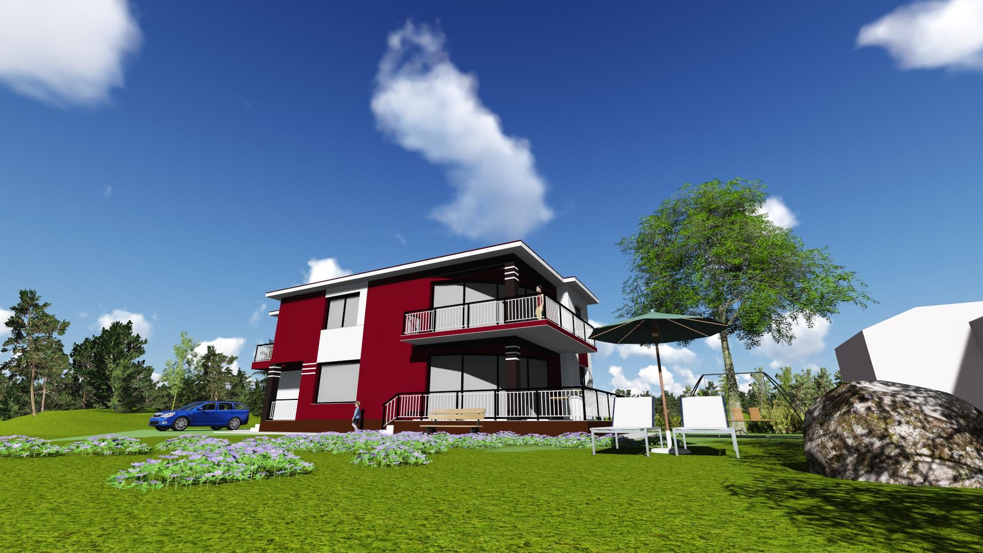 Arhitectura P+1E – 250 mp